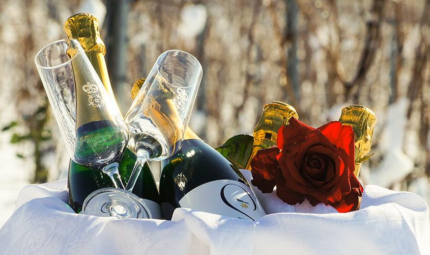 Hochzeit mit Winter-Romantik