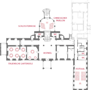 Übersicht Schloss Proschwitz - EG