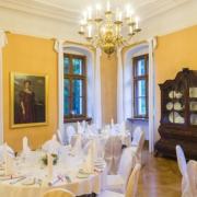 Musiksaal im Schloss Proschwitz